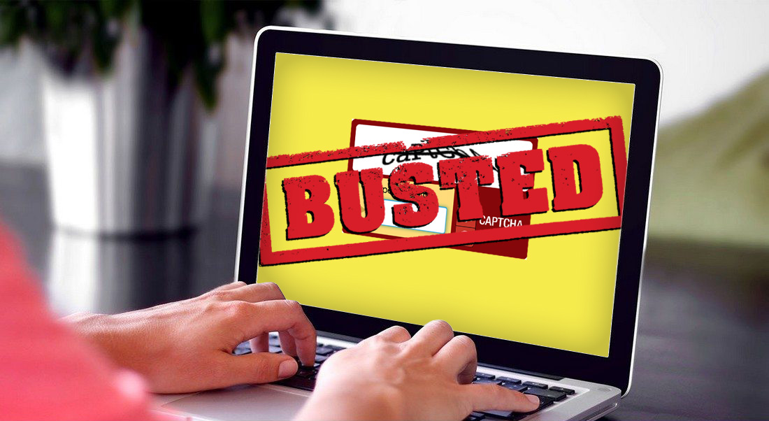 Captcha Busted by WordPress